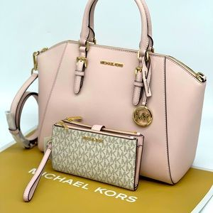 Michael Kors Ciara Satchel & Double Zip Wa…